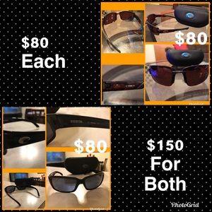 2 pairs of Costa Del Mar 580 p sunglasses